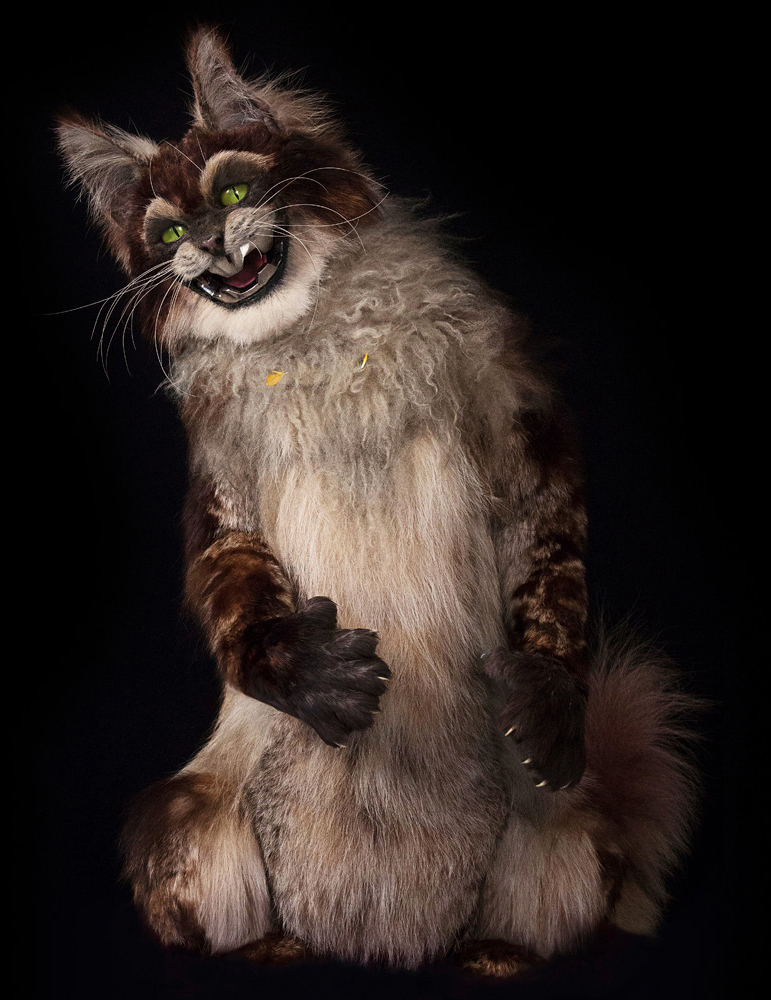 """the animatronic """"PAWS"""" character that we designed and built for  cats and dogs 2: Revenge of Kitty Galore"""