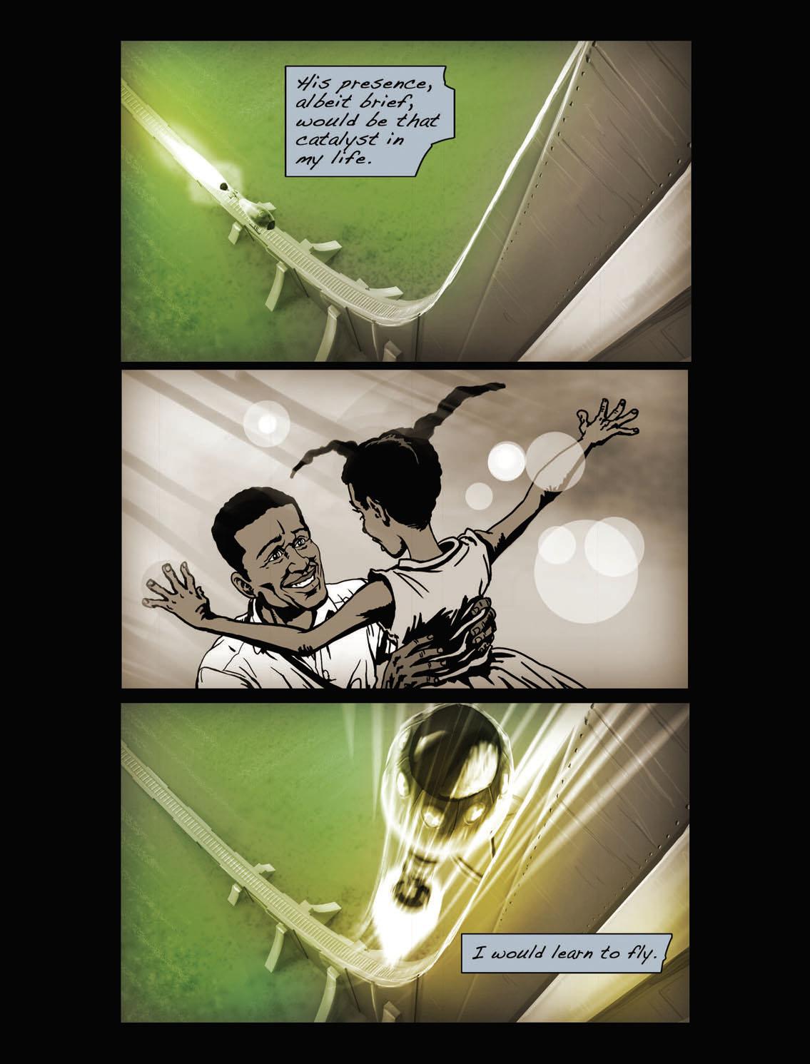 An excerpt from  Matty's Rocket , chapter 1. Credit:  Tim Fielder / Dieselfunk Studios