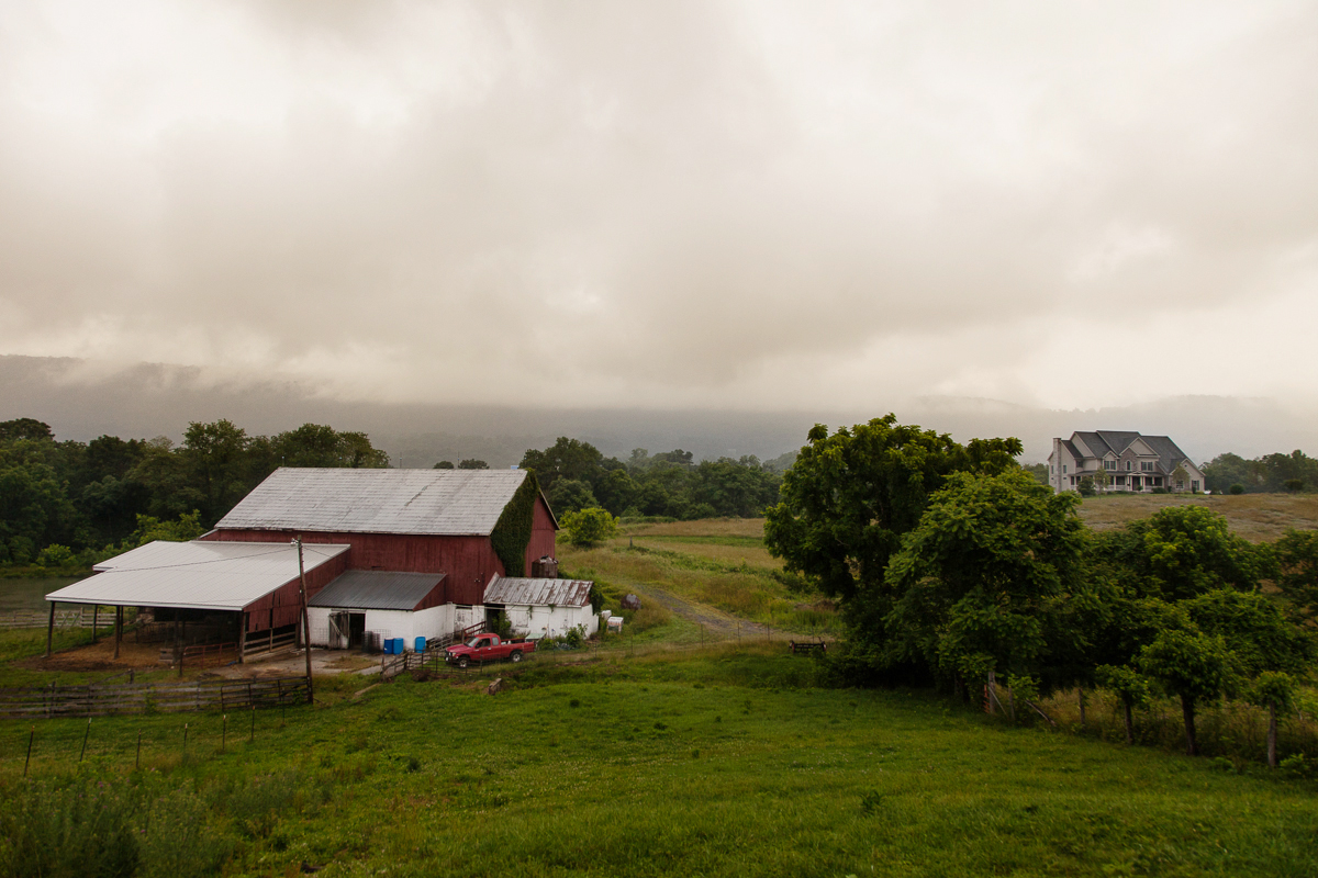The barn. Notice the McMansion neighbor.