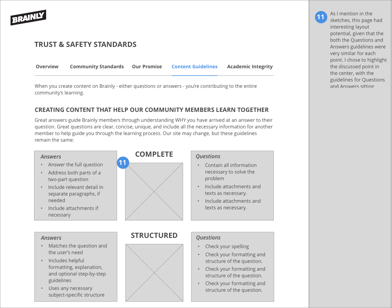 Ux Design For Brainly Trust Safety Pages Robin Ward