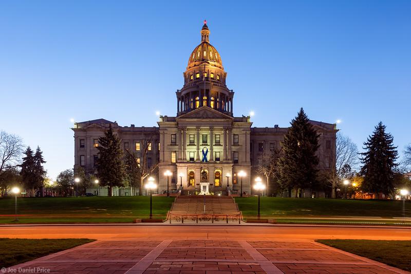 Blue Hour, Capitol Building, Denver, Colorado, America-L.jpg