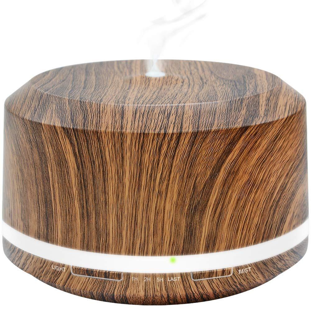 Essential Oil Diffuser 450ml, Wood Grain Aromatherapy Diffuser