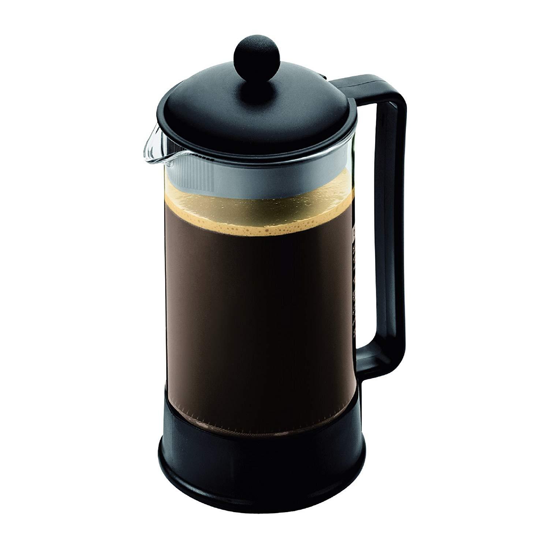Bodum Brazil French Press Coffee Maker, 34 Ounce, 1 Liter, (8 Cup), Black