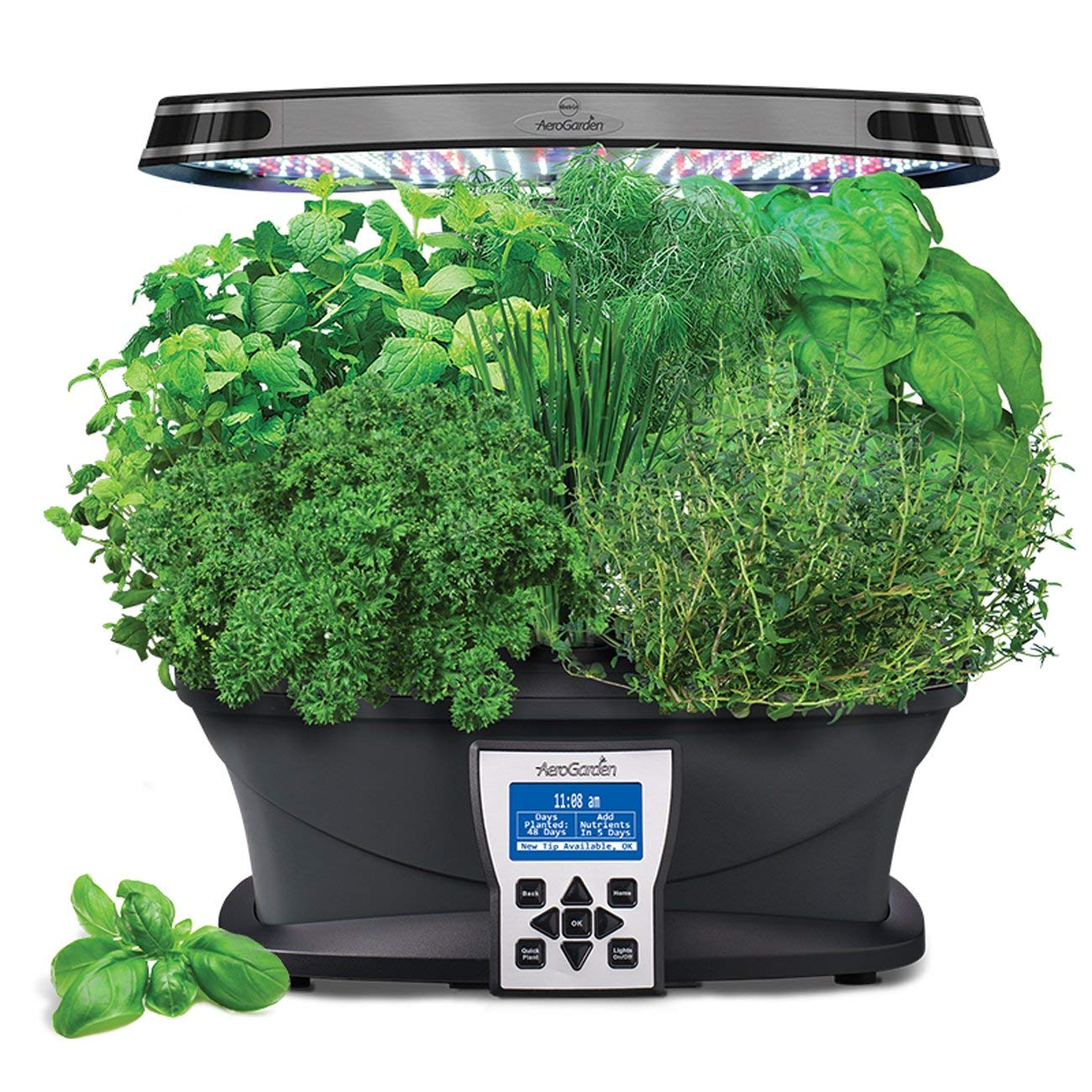 $217.00 AeroGarden  Garden year-round. Grow fresh herbs, vegetables, salad greens, flowers and more in this smart countertop garden.