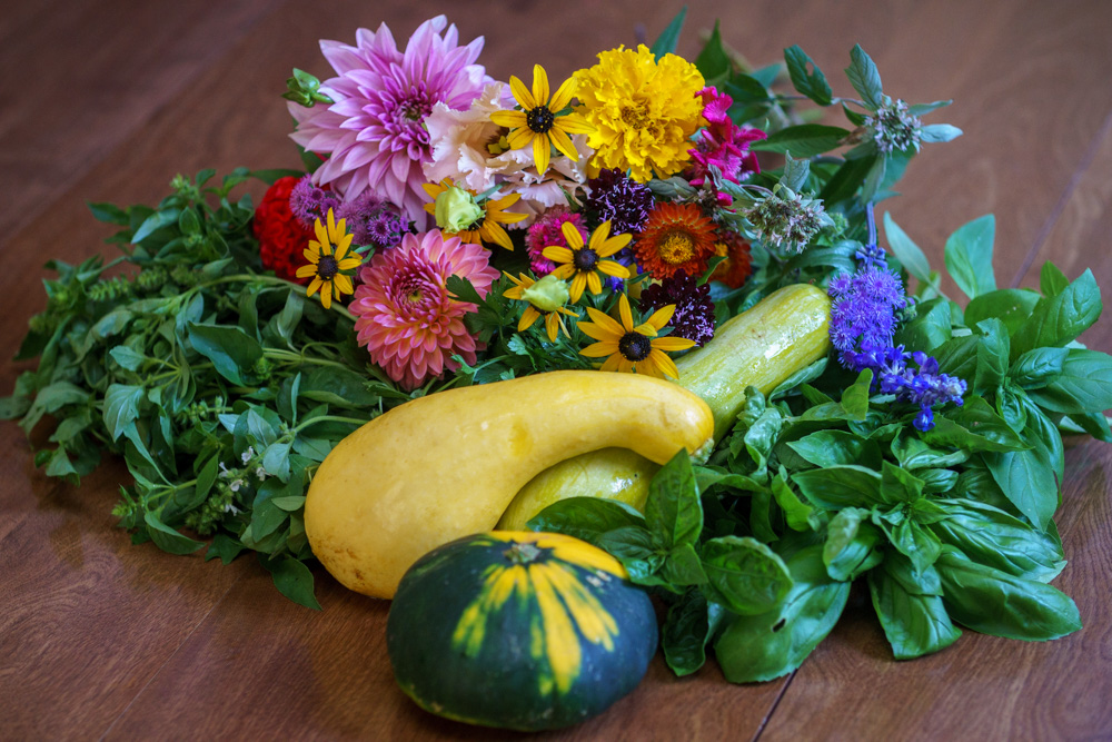 Photos by  Zachary Cross . Flowers by  Southerly Flower Farm . Squash by various vendors.