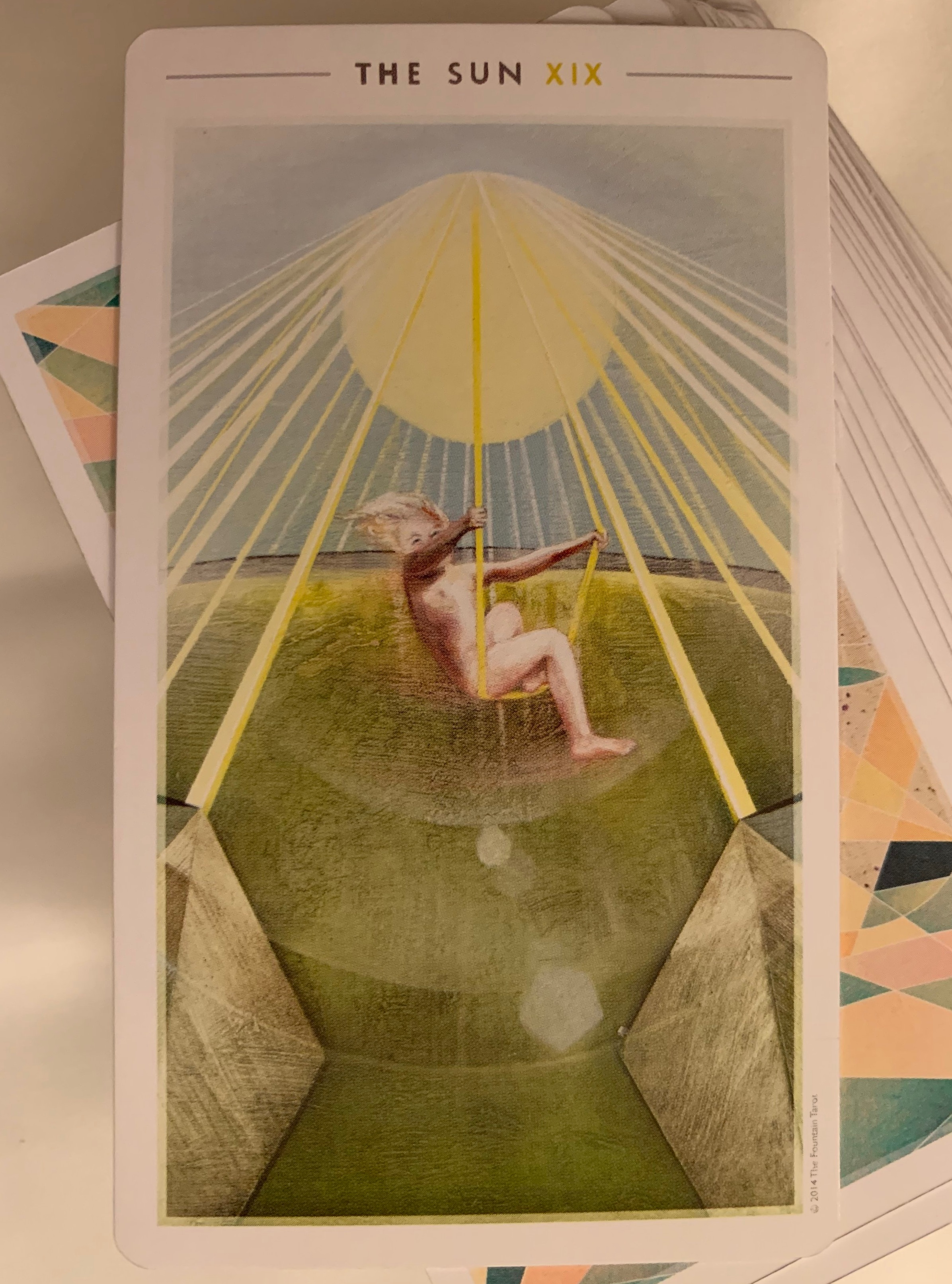 The Sun (upright), from the Fountain Tarot