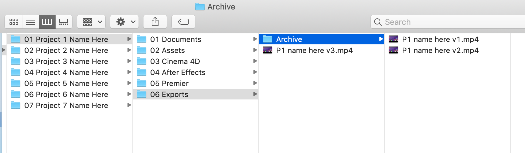 Step 5 - Archive Exports Folder.png