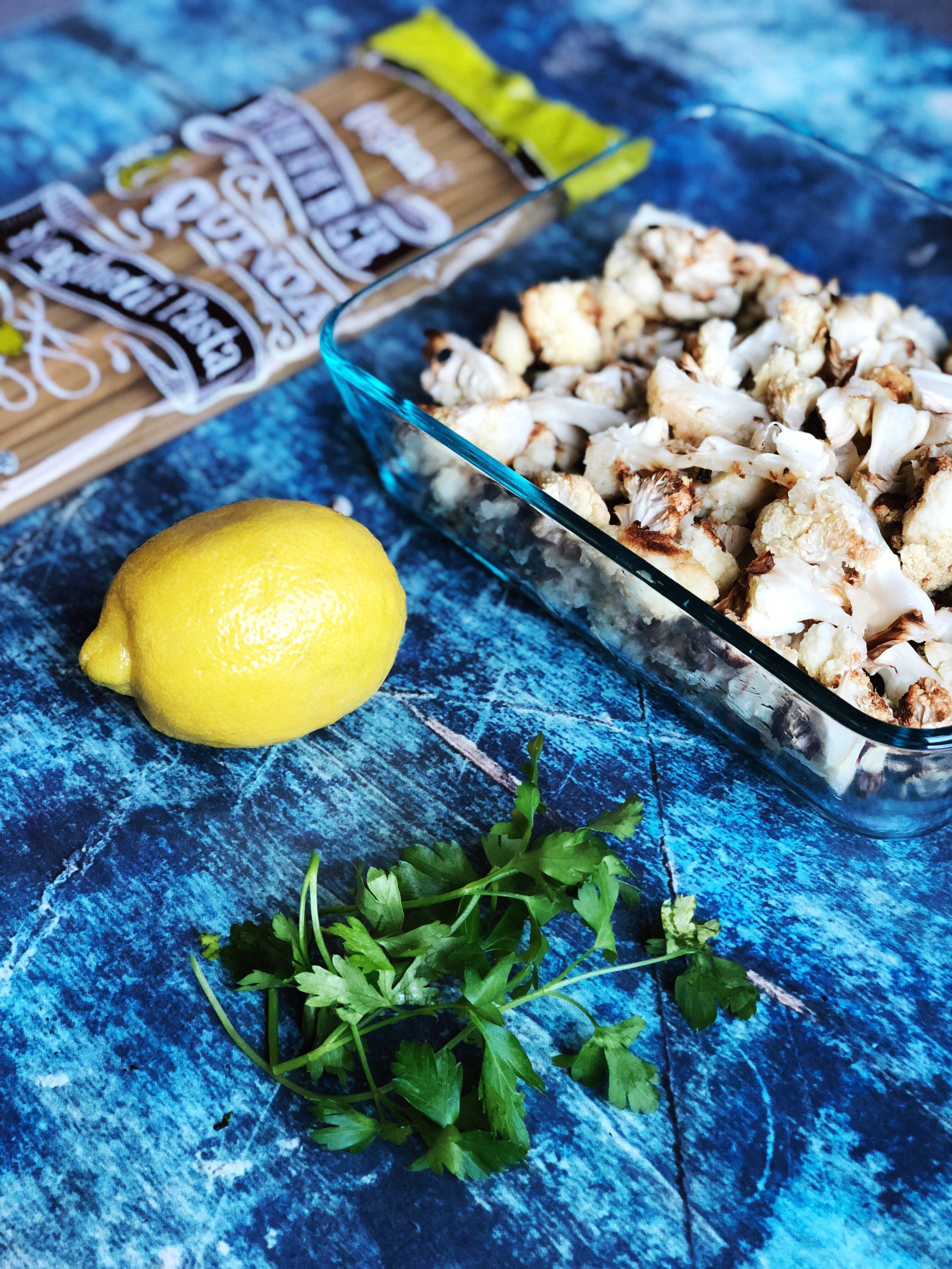 almonds and asana cauliflower alfredo prep.JPG