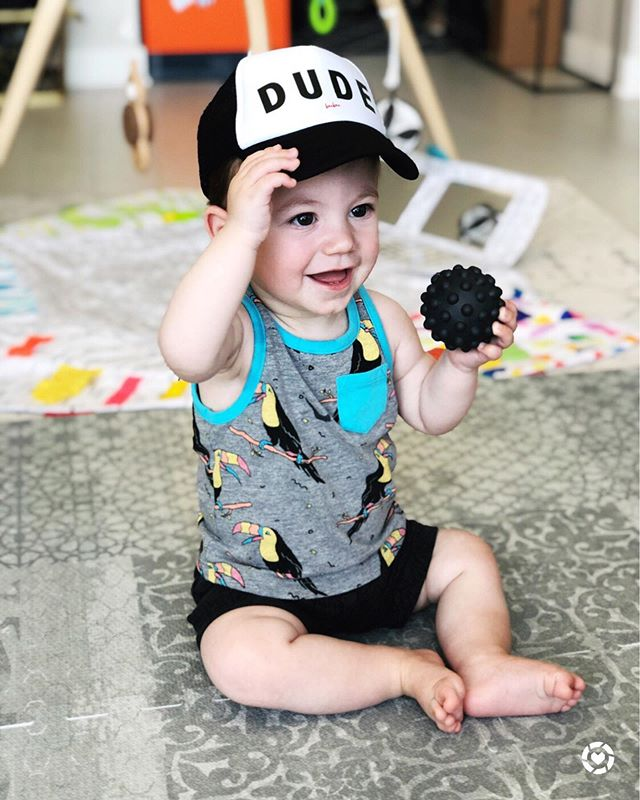 ☀️ DUDE!!! Yesterday was sweltering in Chicago and it got me thinking that I need a stroller fan for Mister Ford! Anyone else in the market for one?? 🛍 To shop this cute baby hat company, the stroller fans you guys recommended, Ford's favorite sensory balls and some other summer essentials download the @liketoknow.it app and screen shot this pic or use the #liketkit link in my bio http://liketk.it/2Ddim 🤷🏻‍♀️ DISCLAIMER: I still have no clue where to attach a fan that would be effective but out of reach so he can't rip it off - if you have suggestions let me know 👇🏻 . . . . .  @liketoknow.it.family #LTKbaby #LTKkids #LTKunder50 #LTKunder100  #almondsandasana #victoriacohen #baby #blue #grey #black #babyhat #bubula #bububaby #babyboy #truckerhat #dude #strollerfan #sensoryball #littlebomad #lovevery #loveverybaby #summerbaby #9monthsold #summertimechi
