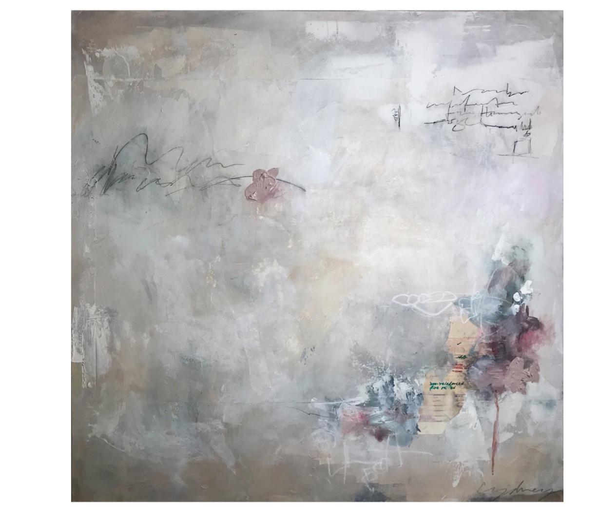 """Mon Amant"" || Mixed Media on Canvas || 40""x40"""