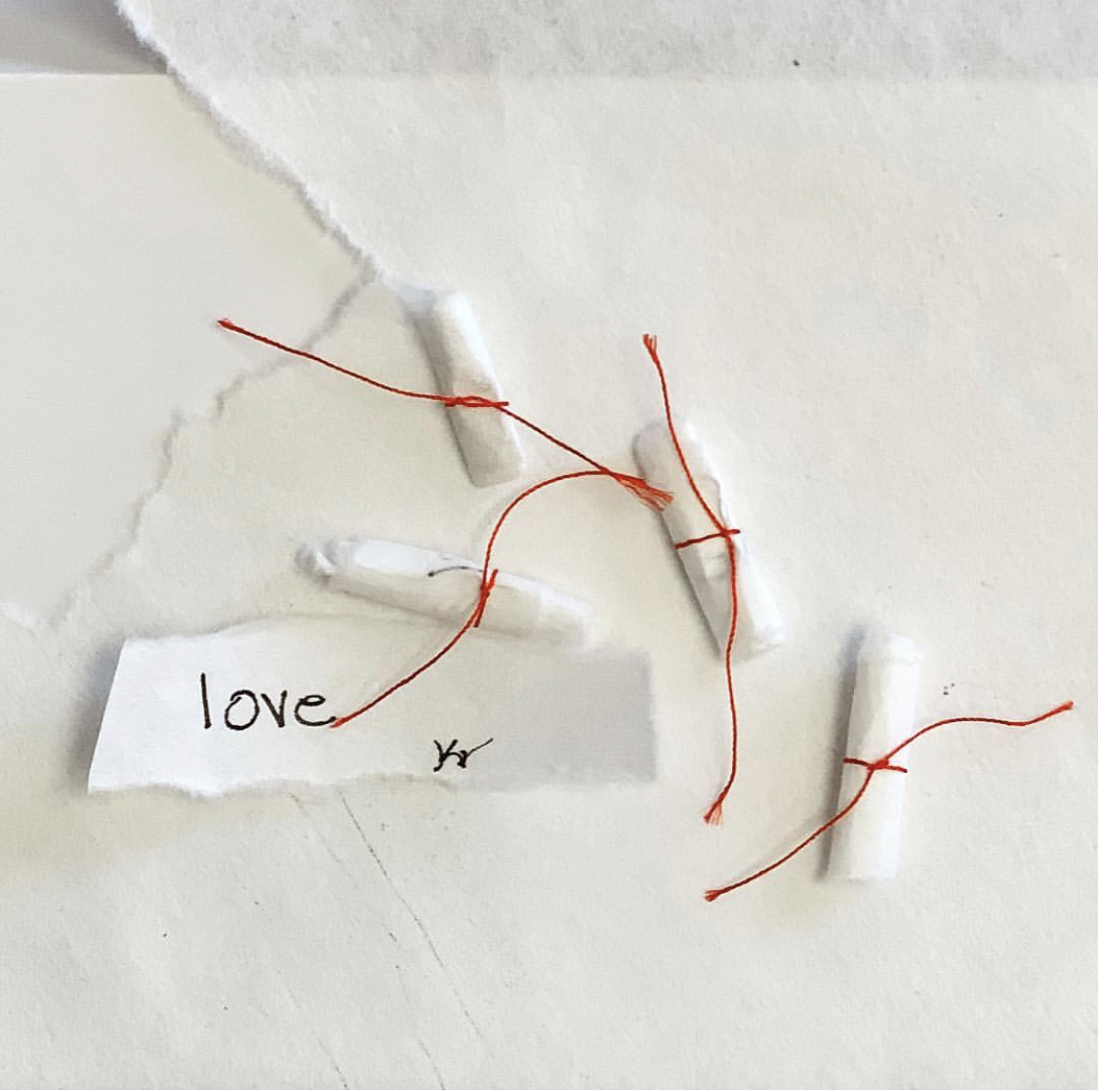 Love Notes - I place a tiny talisman within each inter-layer to imbue these works with the most powerful force on Earth.