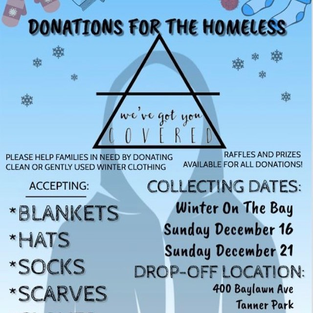 Come hang with us today for @festivalsonthebay at tanner park all day today! We will be taking donations as well as selling some merch!!!! #helpthehomeless #festivalonthebay #wevegotyoucovered #longisland