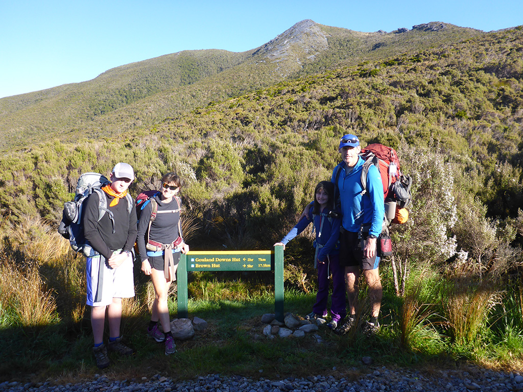On the Perry Saddle - Heaphy Track, Golden Bay