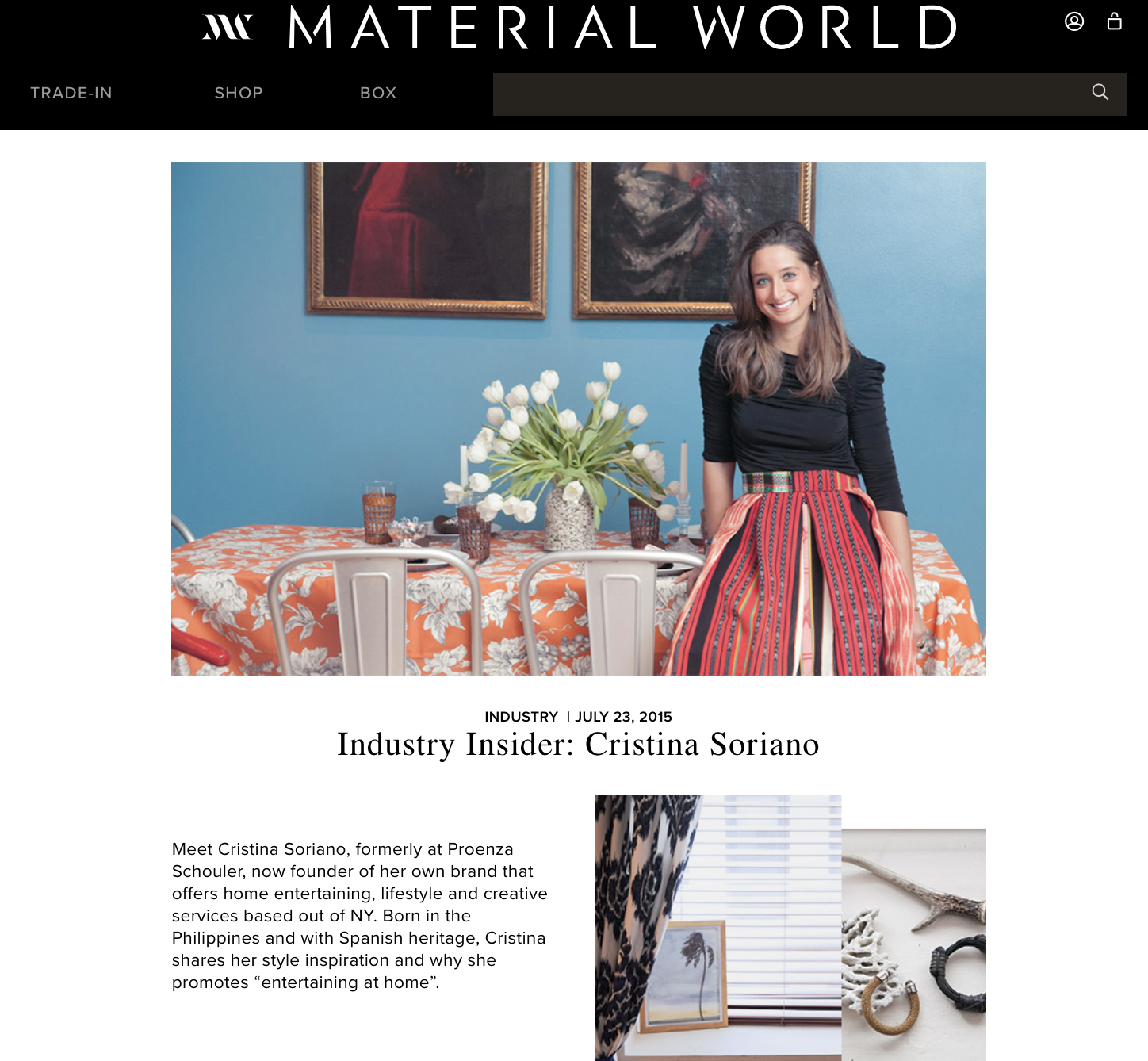 Material World, July 2015