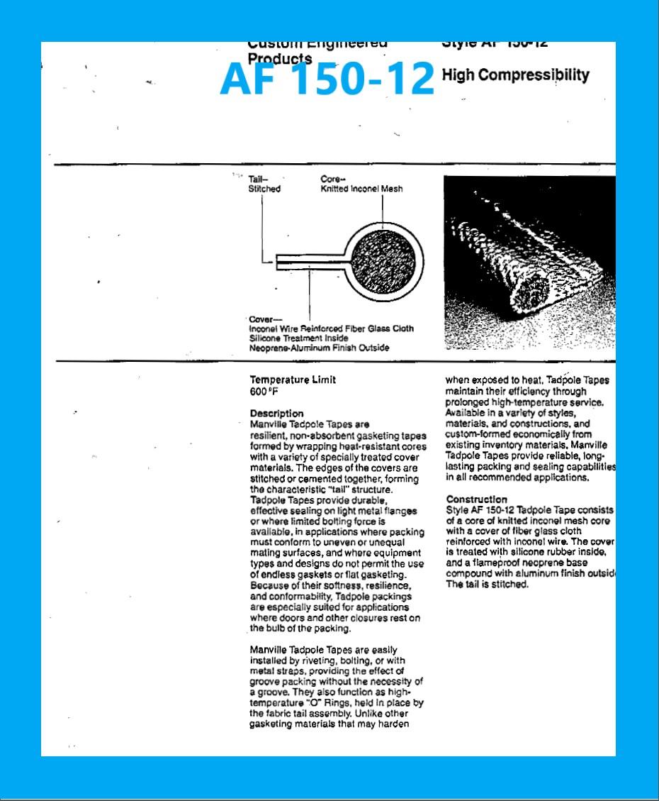 AF 150-12 DATA SHEET