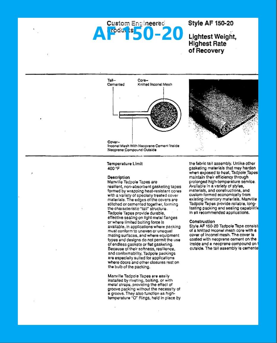 AF 150-20 DATA SHEET