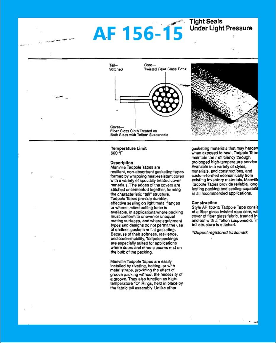 AF 156-15 DATA SHEET