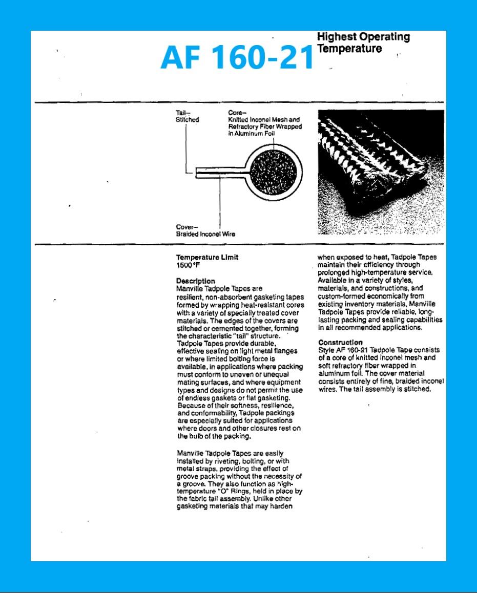 AF 160-21 DATA SHEET