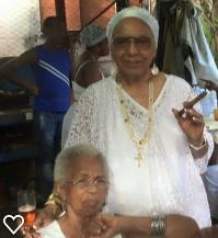 I was ordained in 1999 in San Miguel del Padron, La Habana, Cuba, by Alejandrina Oshún Coromí, and Gladys Ela Prieto Elufondeí (Iba'e')