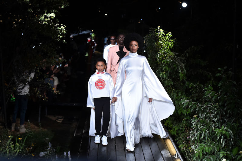 Pyer Moss Spring 2019 Fashion show at Weeksville Heritage Center. Photo credit: Theo Wargo (Getty Images) via  The Glow Up