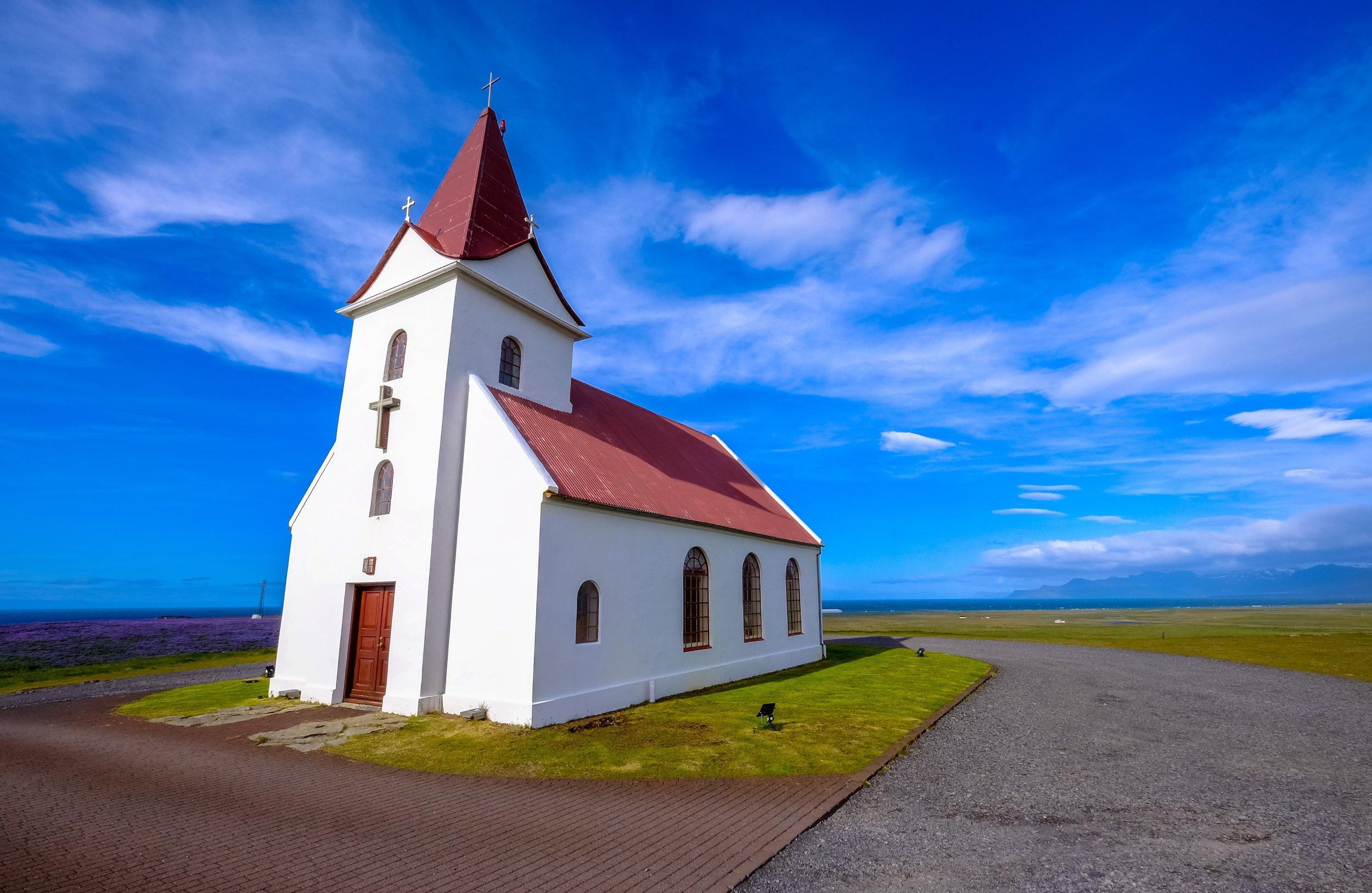 Country Church Blue Sky