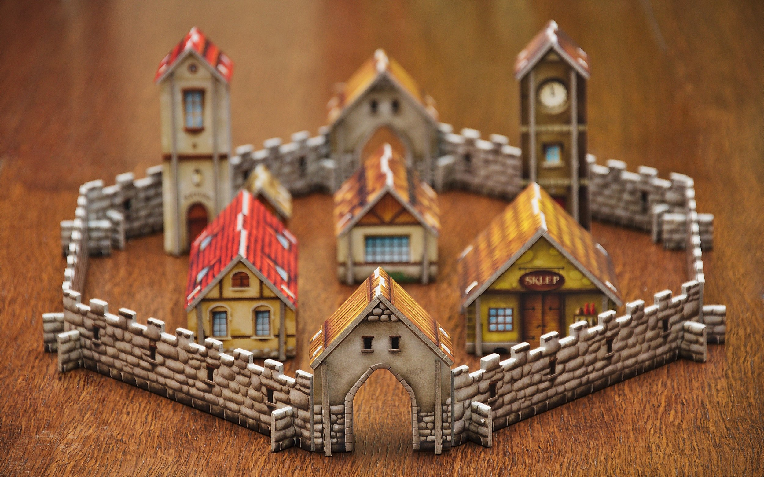 Playful Toy Village with Church