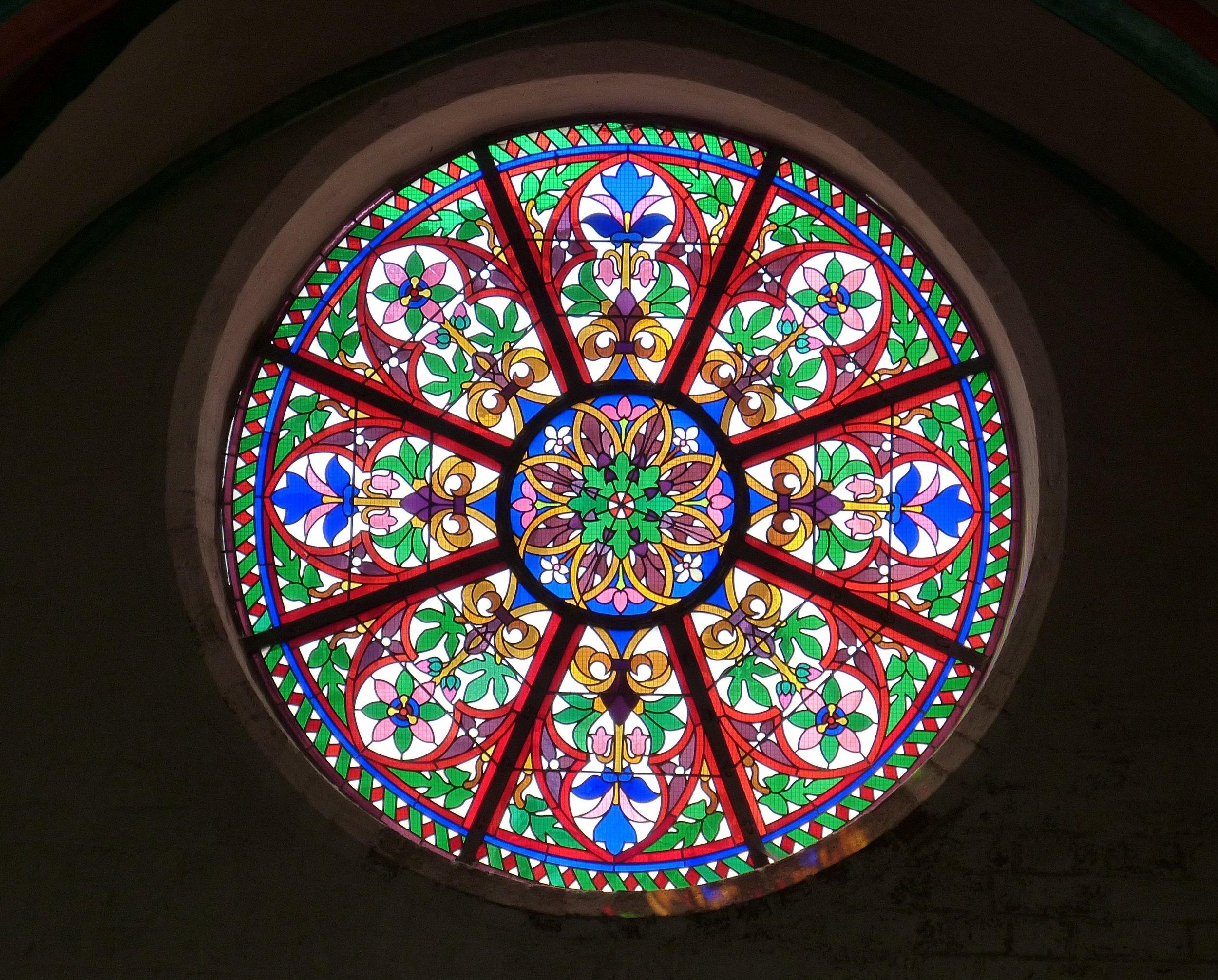 Beautiful Circular Stained-Glass Window