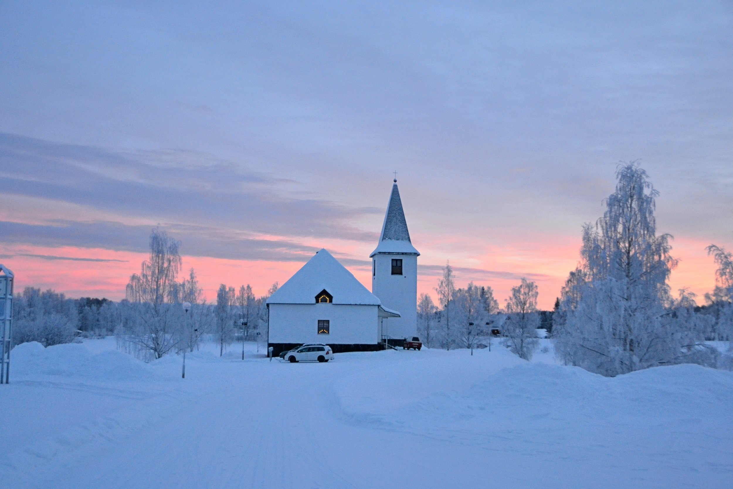 Winter Church Scene