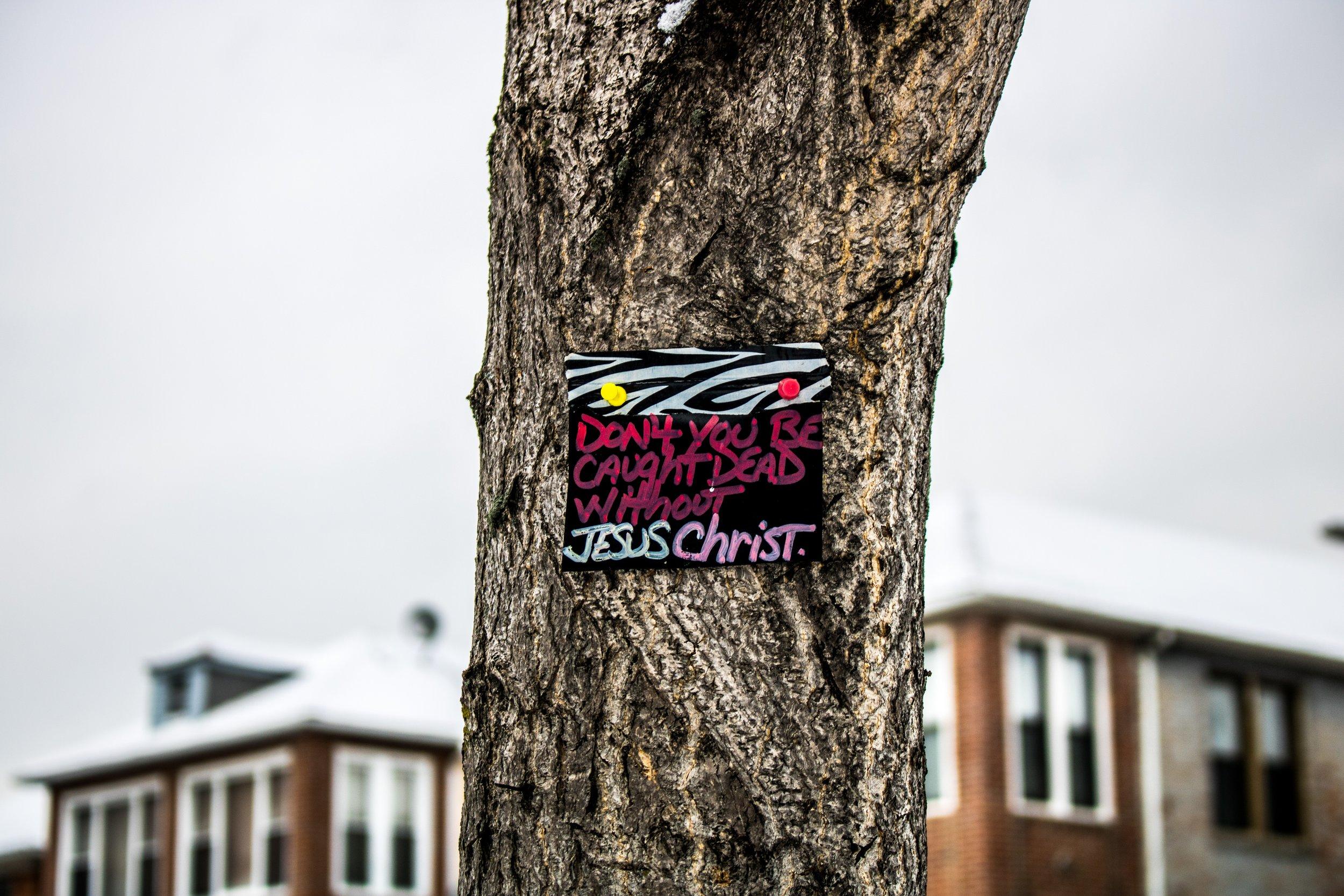 Jesus Christ Urban Sign