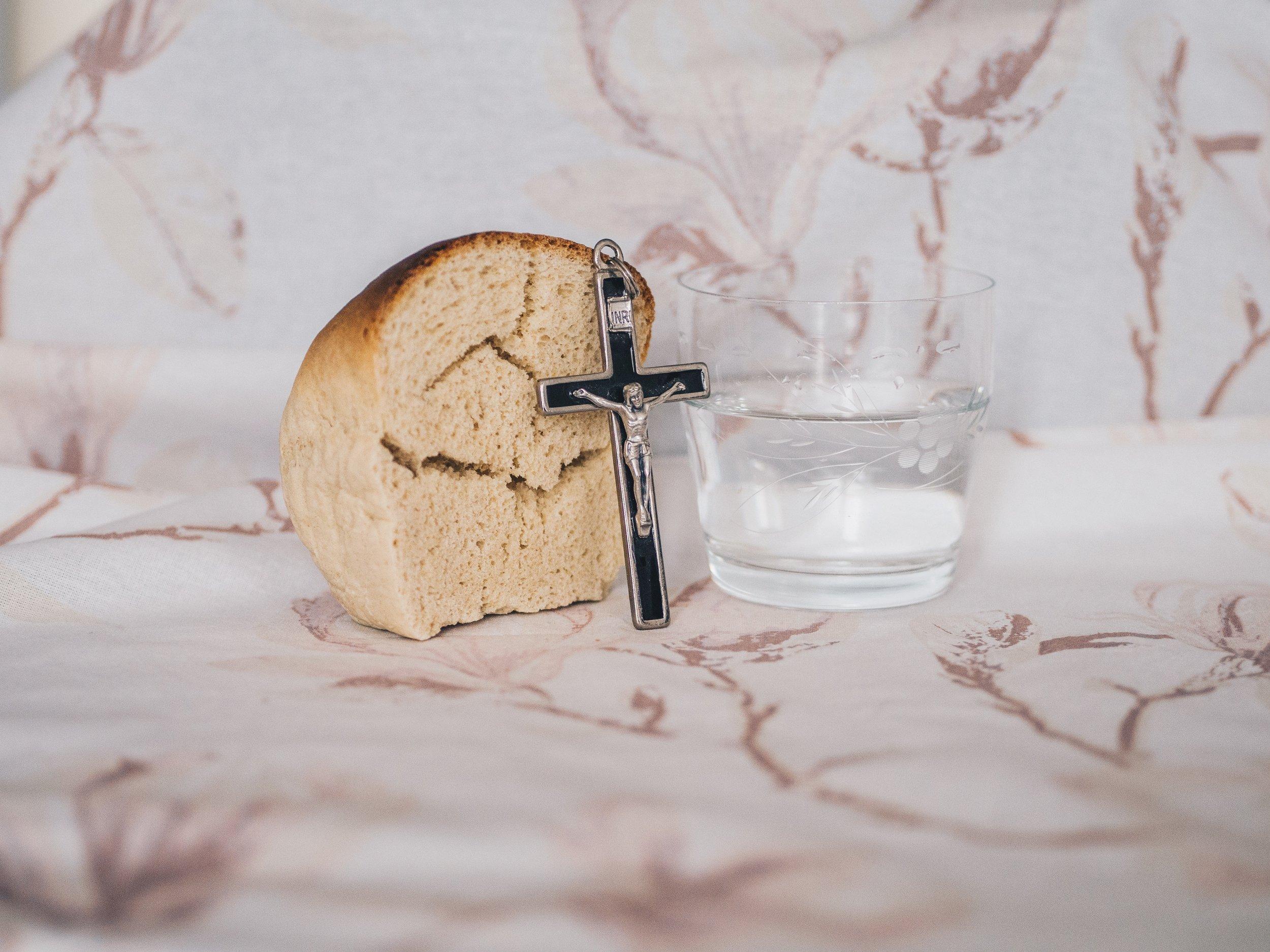 Bread, Water, Crucifix