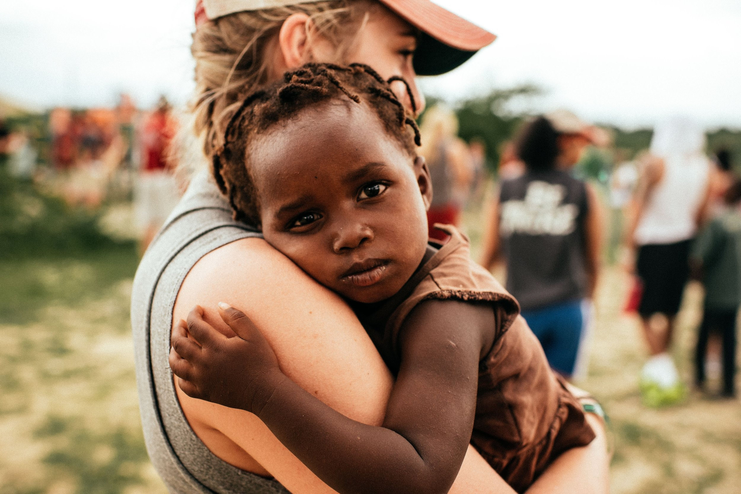 Woman Comforting Child