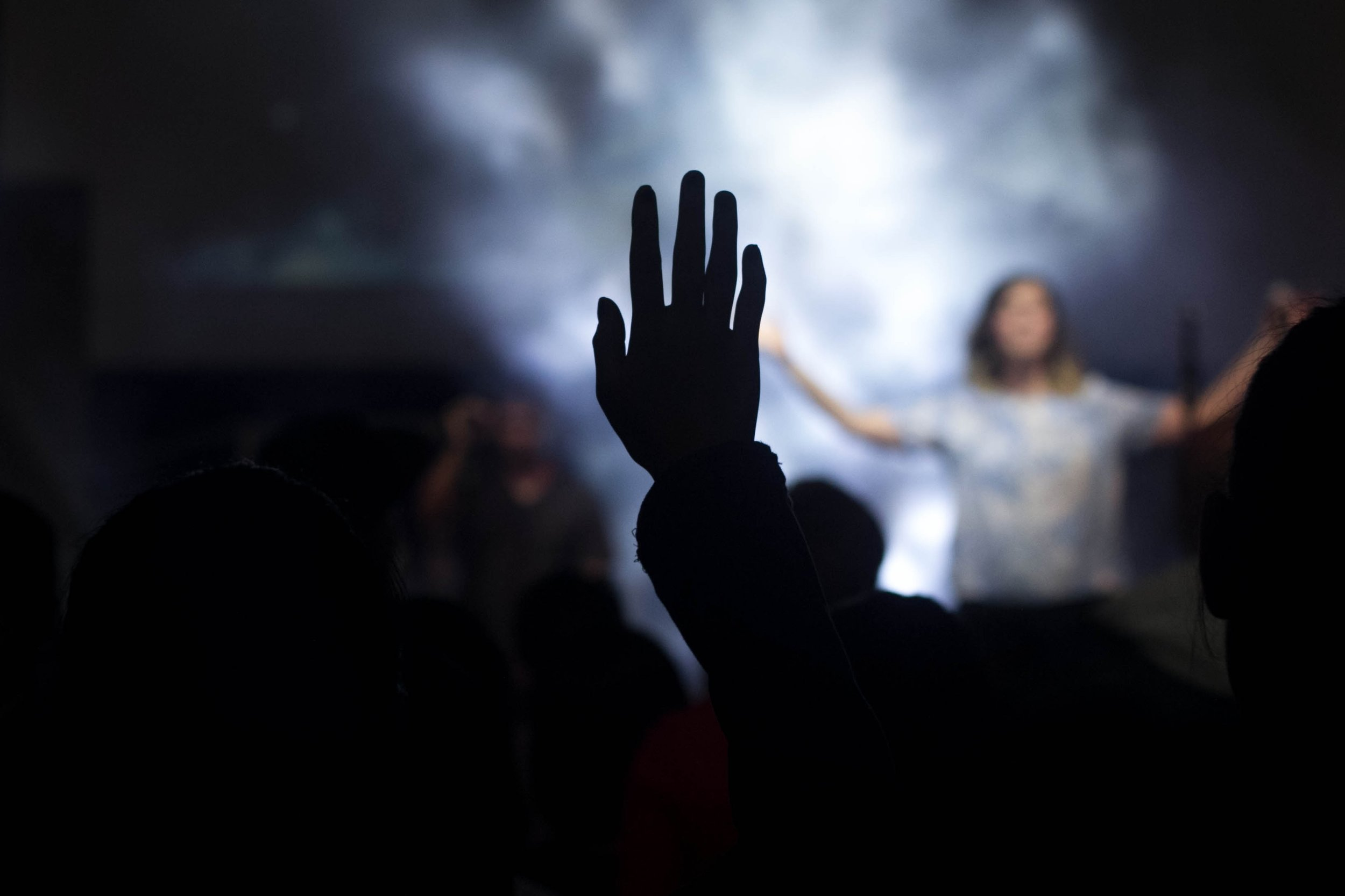 Raised Hands in Contemporary Service