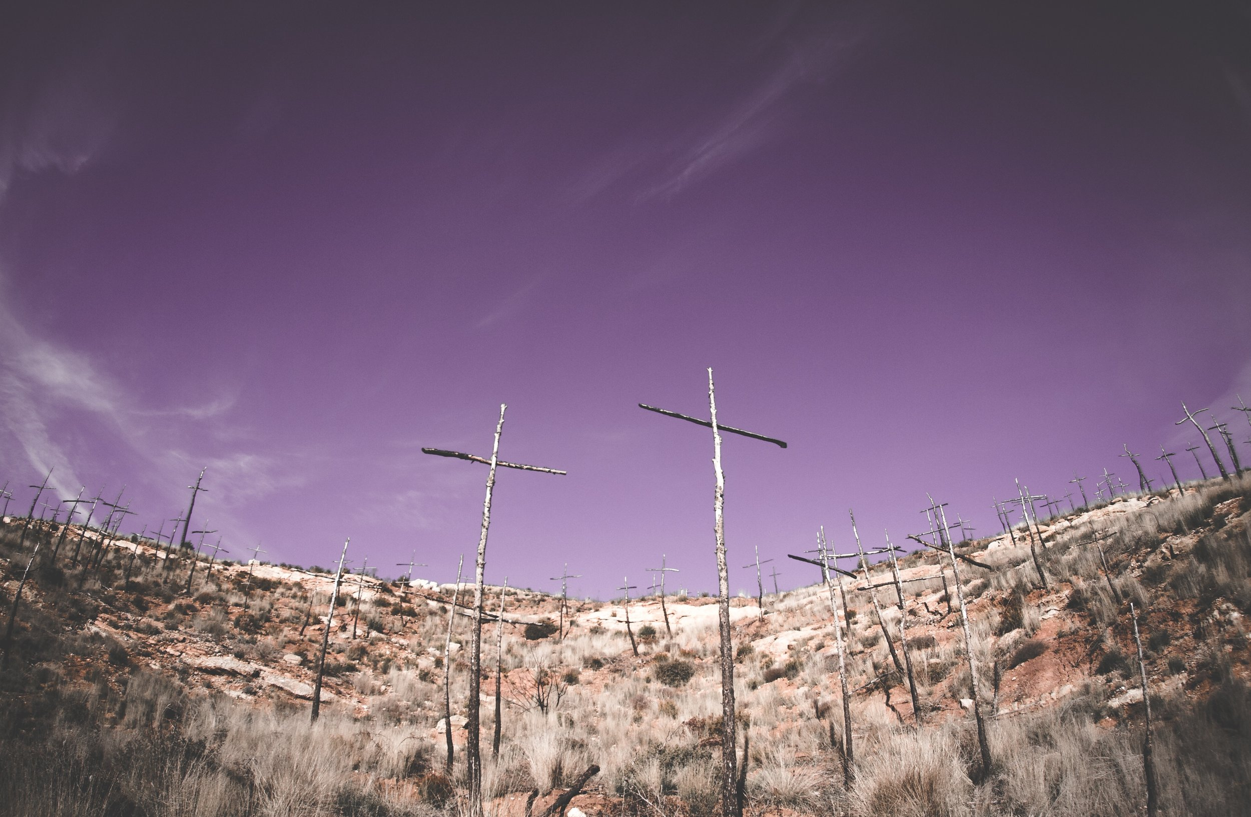 Crosses on Hillside