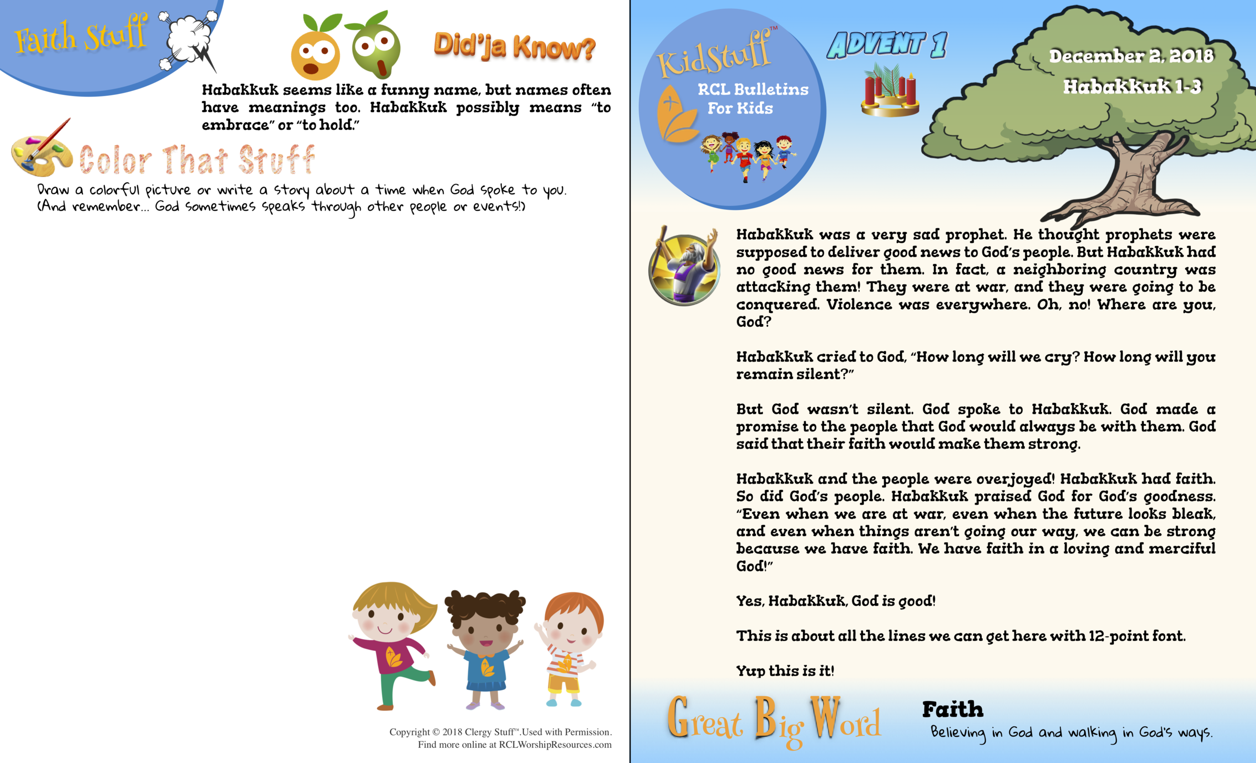KidStuff™ Children's Bulletin