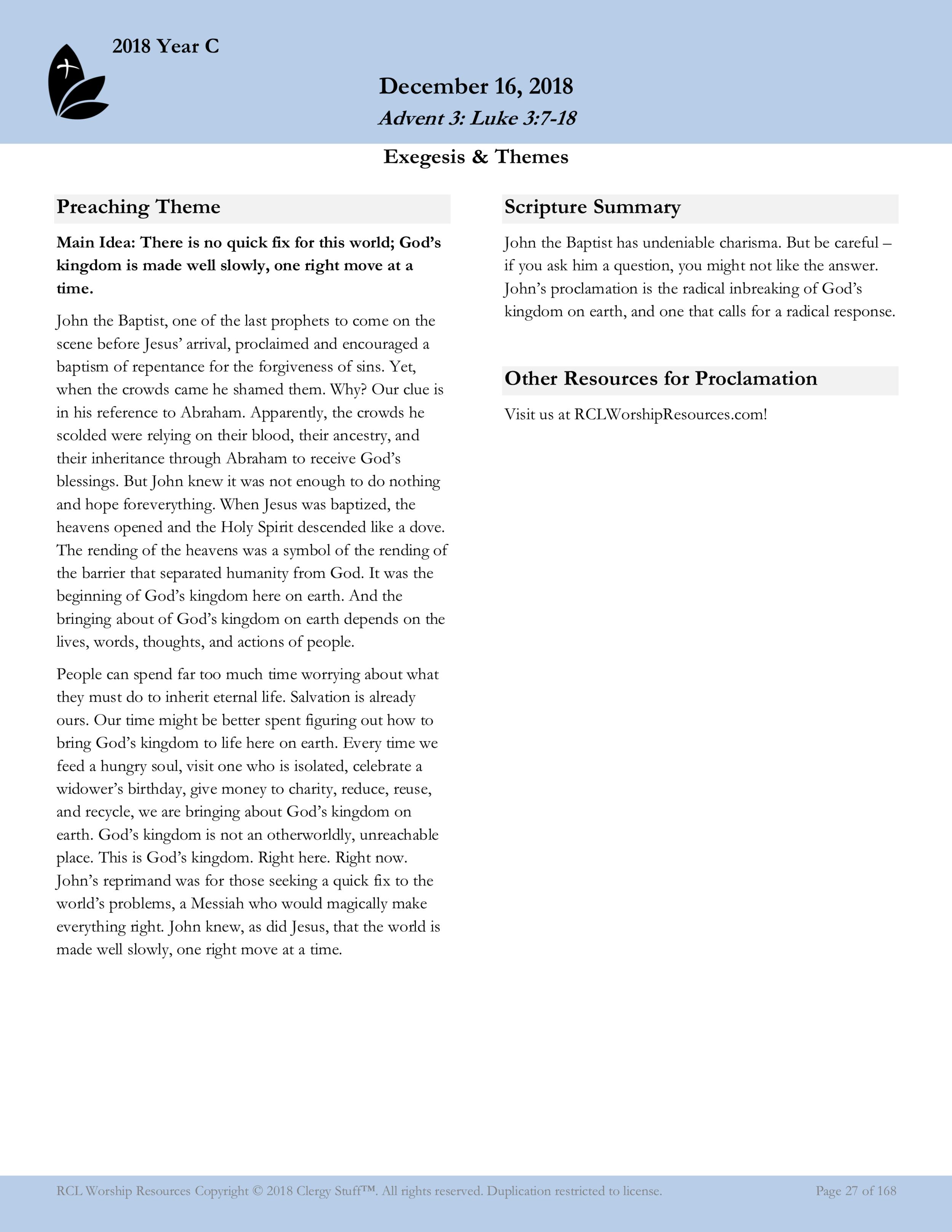 Worship Resources Sample