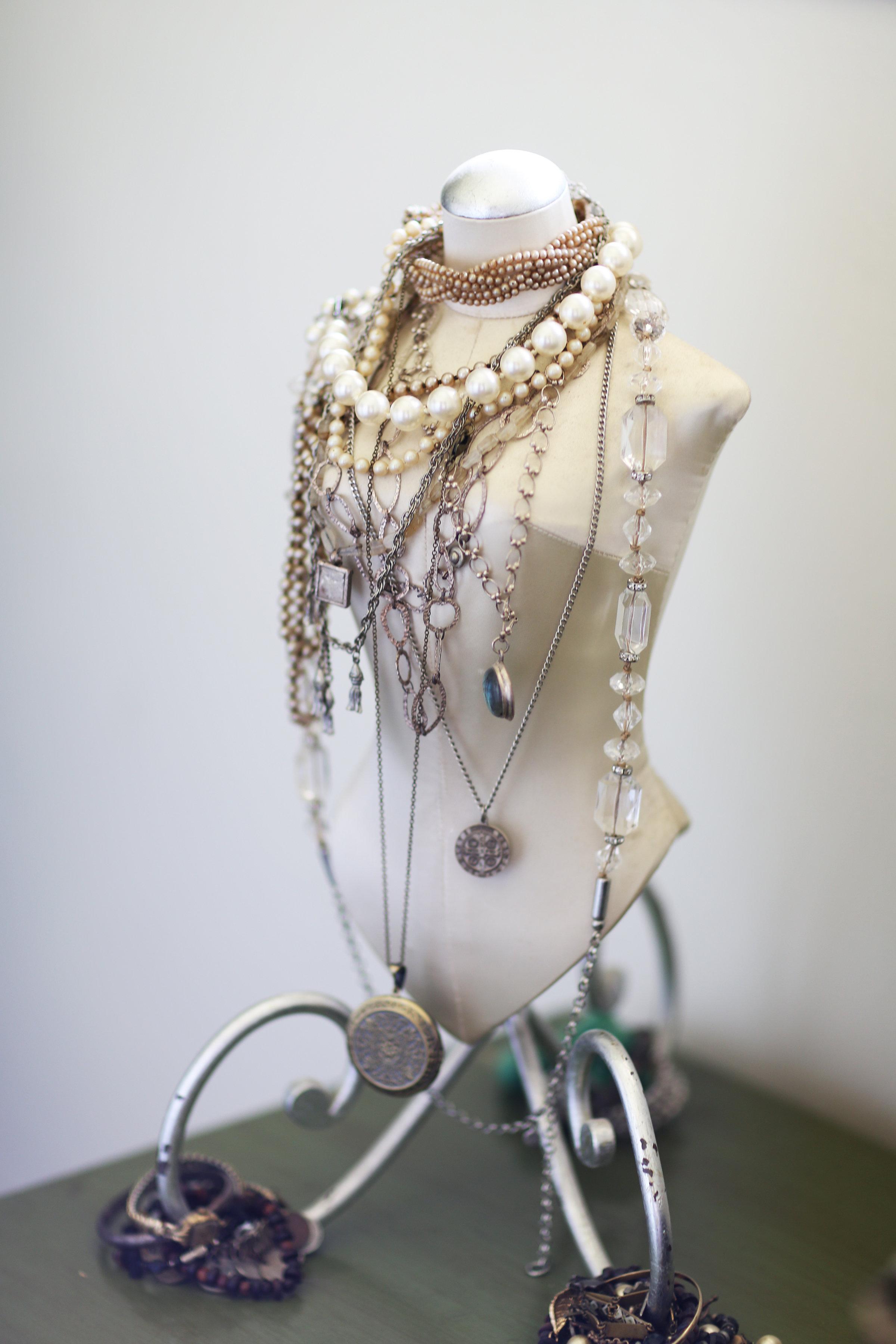 jewelry on stand