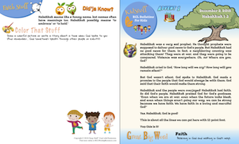 KidStuff™ Worship Activity Children's Bulletins.