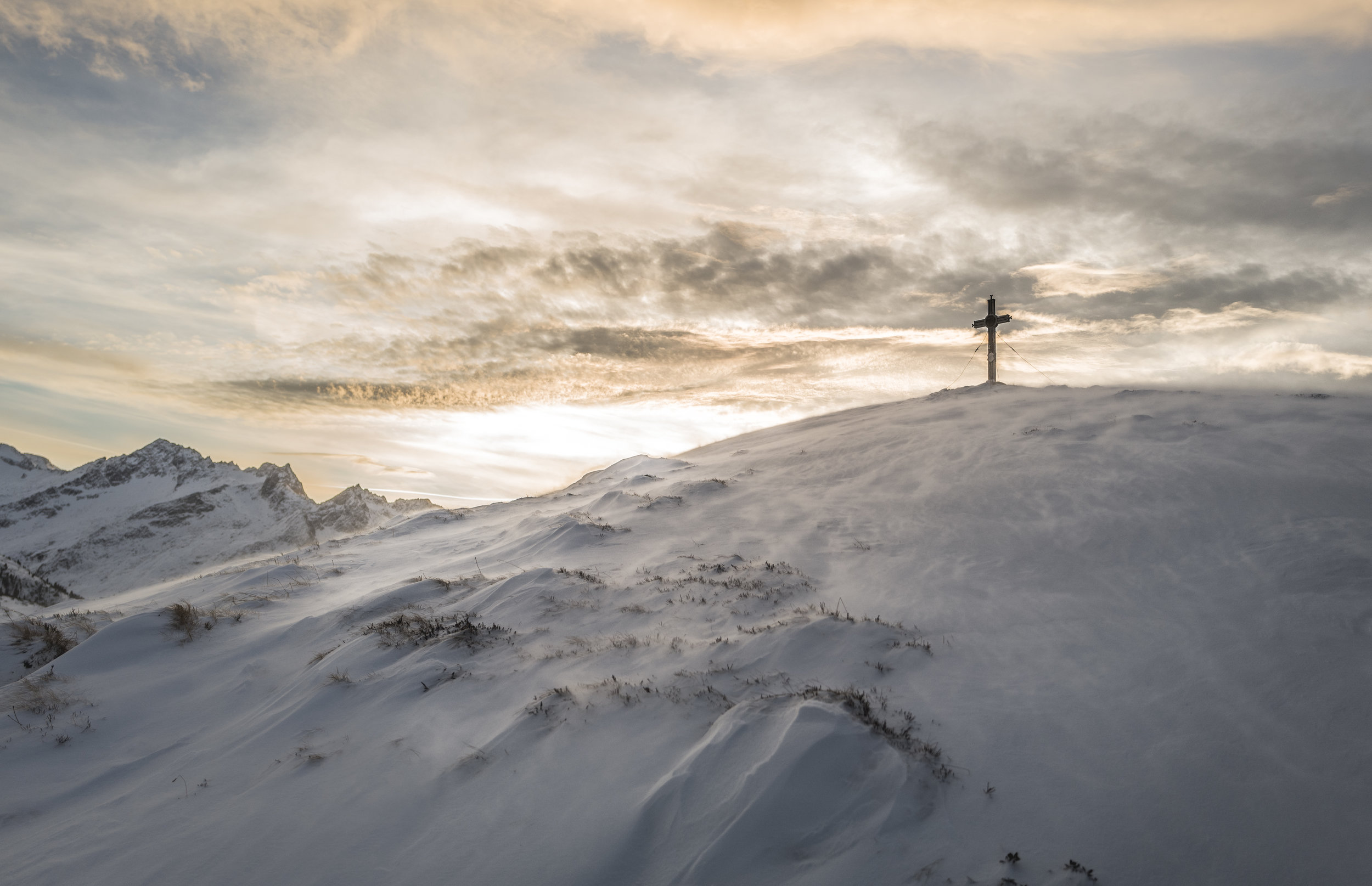 Cross on Mountaintop