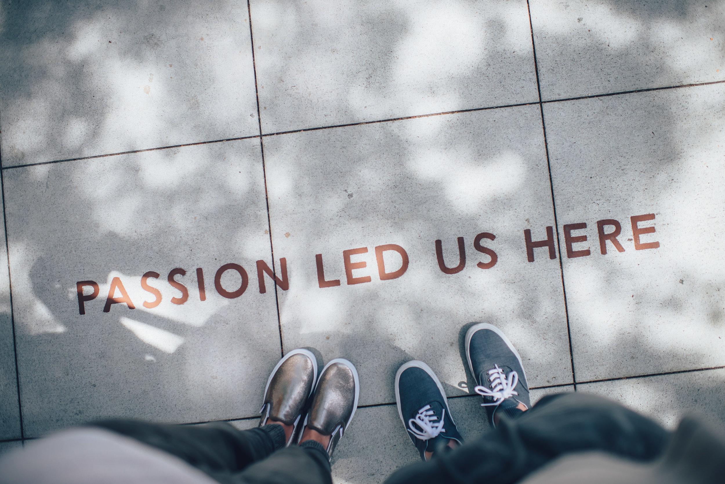 Passion on sidewalk.