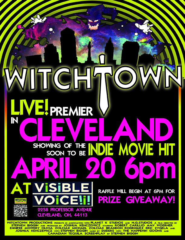 Witchtown April 20th, CLEVELAND promo poster