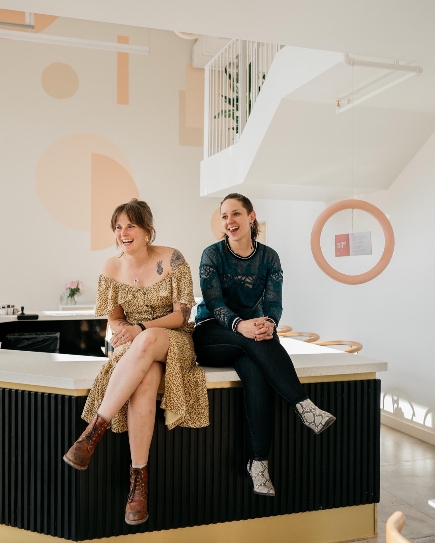 Elle Jensen & Breezy Sanches, Owners of Amethyst Coffee
