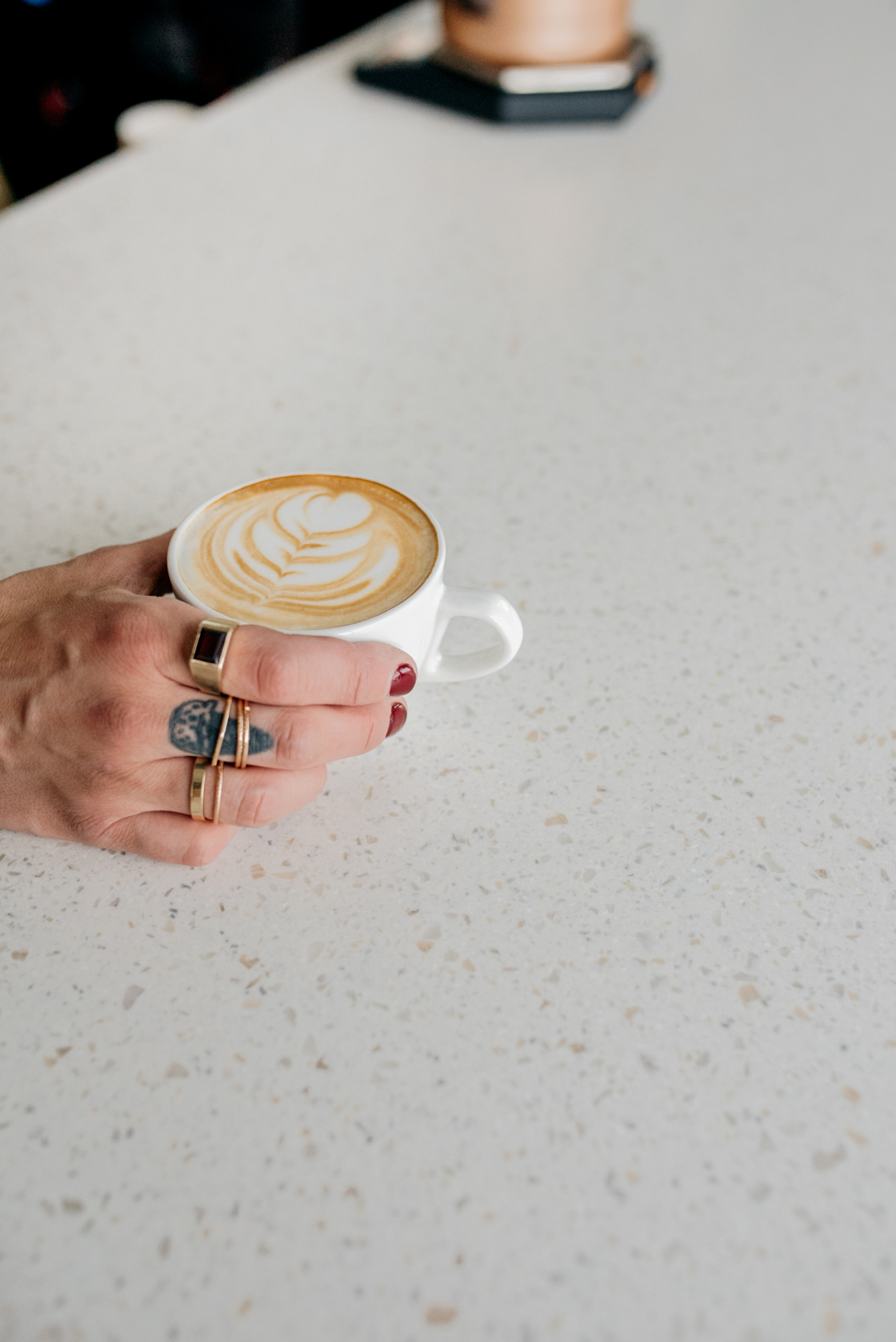 Amethyst Serving Latte