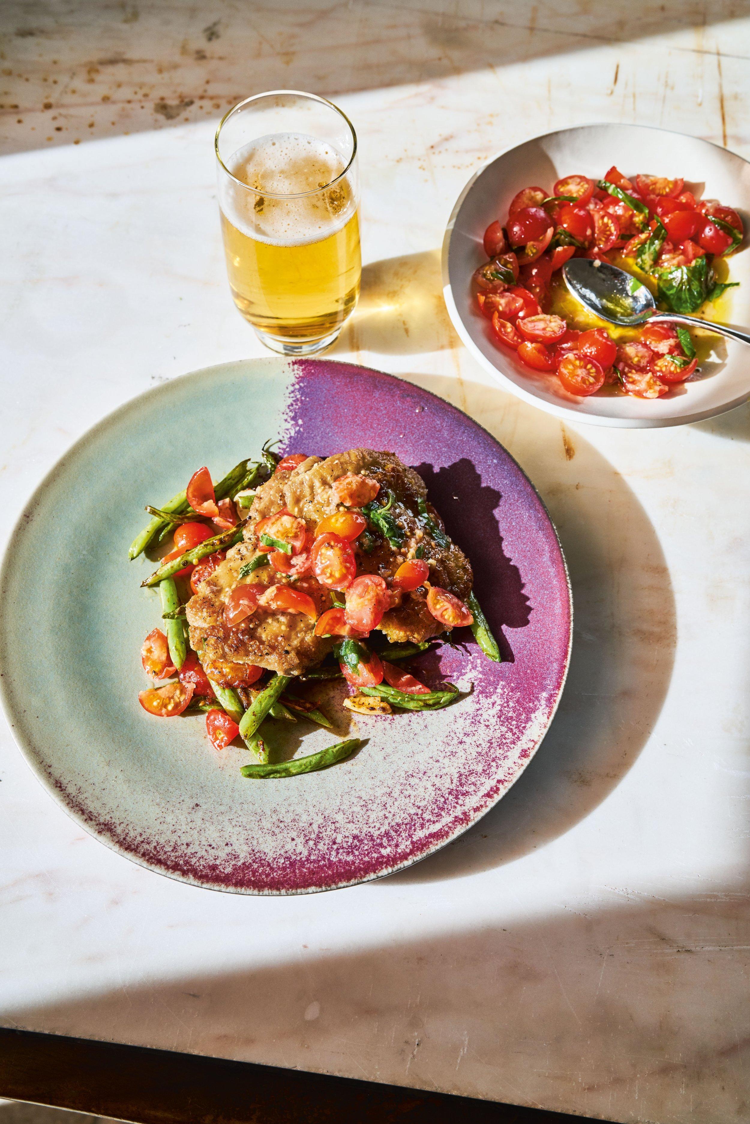 Pan-fried chicken thighs with Italian salsa.jpg
