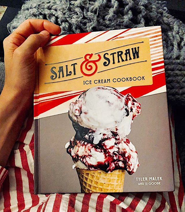 Have you tried making homemade ice cream? What's your favorite flavor to create?⁣⁣ ⁣⁣⁣ ⁣On this week's show, we talked all things ice cream with Salt & Straw's Tyler Malek. Listen now wherever you get podcasts.⁣⁣ ⁣⁣⁣ ⁣__________________⁣⁣ ⁣📷 #repost: @saltandstraw⁣⁣ ⁣⁣⁣ ⁣#TalkCookbooks #saltandstrawcookbook #icecream #saltandstraw  #cookbooks #cookbookclub #cookbookaddict