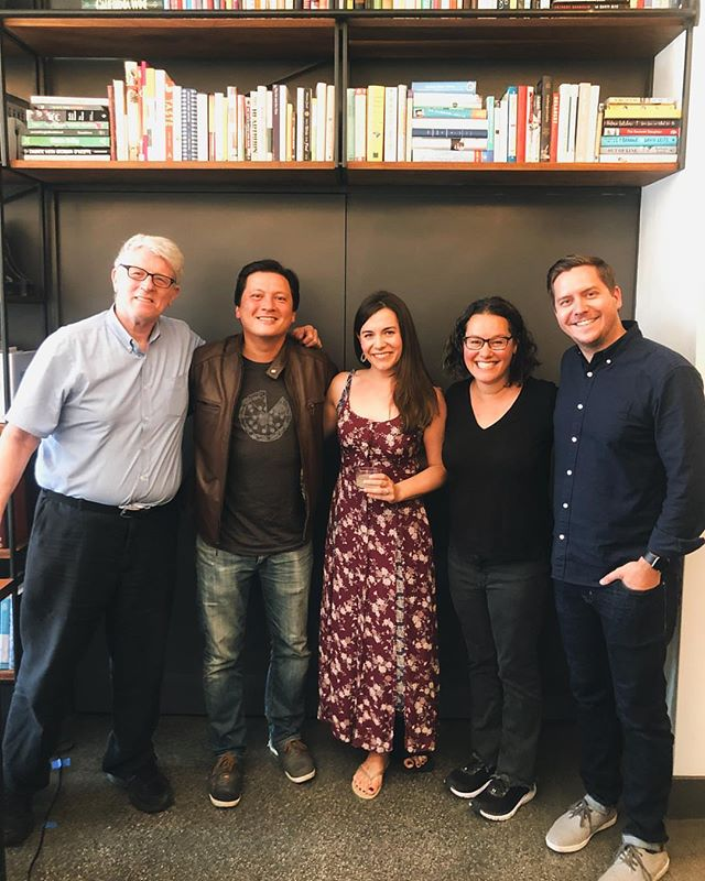 Flashback to the live recording of our Stars of Serious Eats show at @civickitchensf. Thanks to our fans who packed the room and shared cherry pie & drinks with us!⁣ ⁣⁣ ⁣Don't miss it on @spotify, @applepodcasts, or wherever you listen to podcasts. #TalkCookbooks