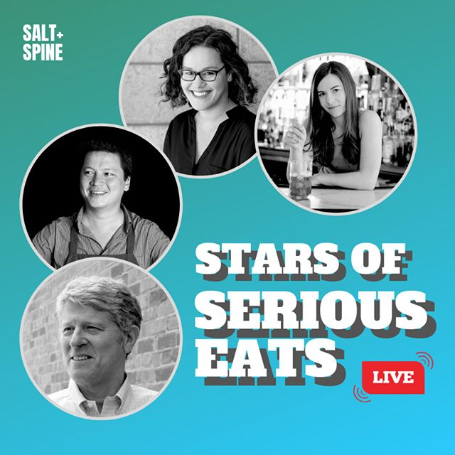 NEW EPISODE: We're joined by the Stars of Serious Eats — founder Ed Levine (@seriouseatered), Food Lab author J. Kenji López-Alt (@kenjilopezalt), and former managing editors Carey Jones (@carey_jones) and Maggie Hoffman (@maggiejhoffman) for a live taping in San Francisco!⁣⁣ ⁣⁣⁣⁣⁣ ⁣⁣We sat down with these authors in front of a live audience at The Civic Kitchen to discuss the origins and legacy of Serious Eats, their most memorable assignments, cookbook influences, and more.⁣⁣⁣ ⁣⁣⁣⁣⁣ ⁣⁣PLUS: We're headed into the @greatjones library to explore a vintage cookbook by Judith Jones, and featuring a recipe for @bravetart's Classic Cherry Pie. ⁣⁣⁣ ⁣⁣⁣⁣⁣ ⁣⁣Listen on @spotify, @applepodcasts, or your favorite app. #TalkCookbooks