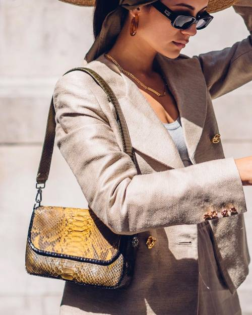Snakeskin Shoulder Bag -