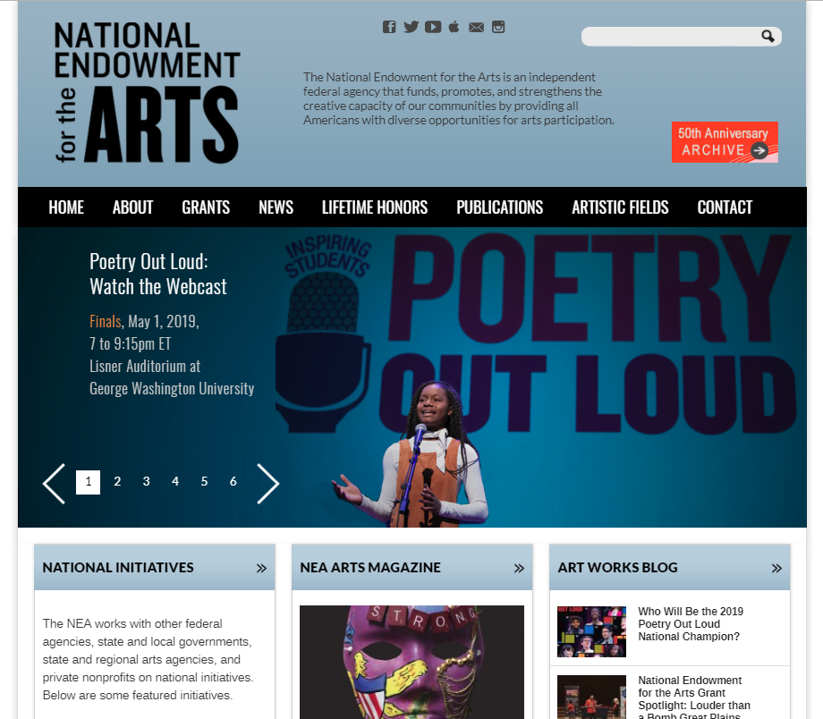 National Endowment for the Arts (NEA) - The National Endowment for the Arts is an independent federal agency that funds, promotes, and strengthens the creative capacity of our communities by providing all Americans with diverse opportunities for arts participation