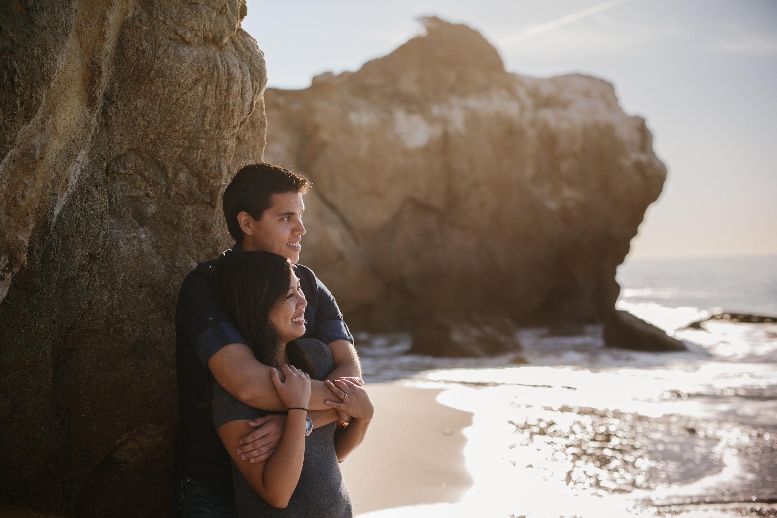 El Matador Beach Engagement © Abigail R Collins Photography