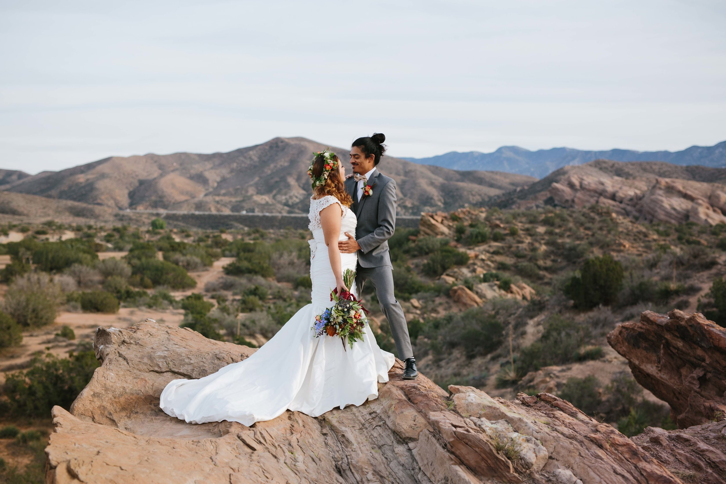 Vasquez Rocks Wedding Editorial © Abigail R Collins Photography